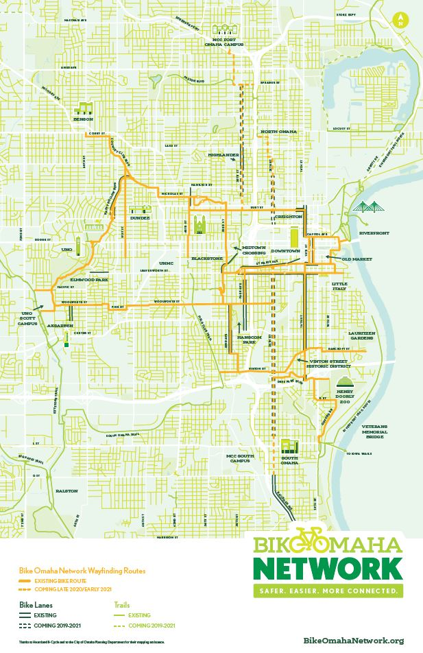 BikeOmahaNetwork Map Screenshot